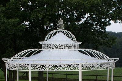 Dach für XXL Luxus Pavillon Romantik 500cm, Wit