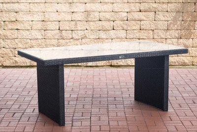 Poly Roodan tafel Ovignan Zwart,180 cm