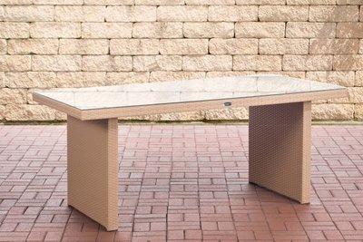 Poly Roodan tafel Ovignan sand,180 cm