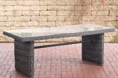 Wicker tafel Fantano XL Grijs-meliert