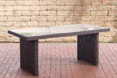 Wicker tafel Fantano Bruin-meliert