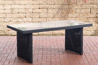Wicker tafel Fantano Zwart