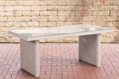 Wicker tafel Fantano perlWit