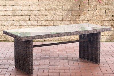 Wicker tafel Fantano XL Bruin-meliert