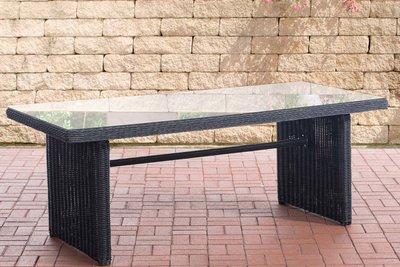 Wicker tafel Fantano XL Zwart