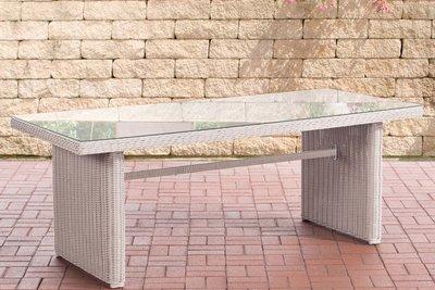 Wicker tafel Fantano XL perlWit