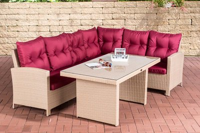 Dining Set Menire sand,rubinRood