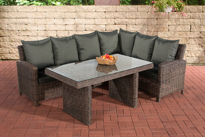 Lounge Dining Set Menire 5mm Bruin-meliert,anthrazit