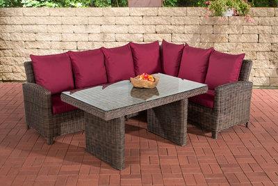 Lounge Dining Set Menire 5mm Bruin-meliert,rubinRood