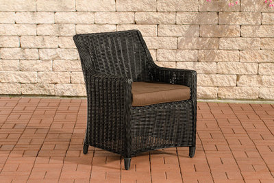 Set van 4 fauteuils Sendnas Zwart,terraBruin