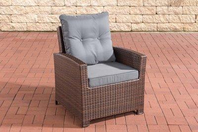 PolyRoodan fauteuil Fosoli Bruin-meliert,eisenGrijs