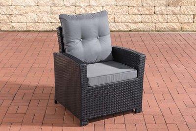 PolyRoodan fauteuil Fosoli Zwart,eisenGrijs