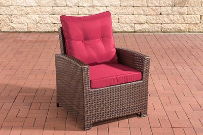 PolyRoodan fauteuil Fosoli Bruin-meliert,rubinRood