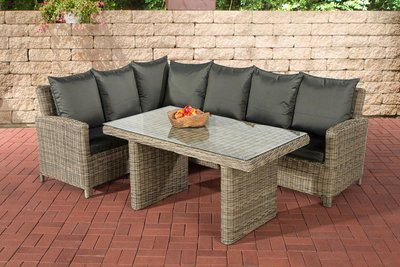 Lounge Dining Set Bormee 5mm natura,anthrazit,