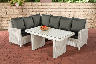 Lounge Dining Set Bormee 5mm perlWit,anthrazit
