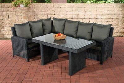 Lounge Dining Set Bormee 5mm Zwart,anthrazit