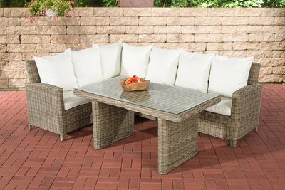 Lounge Dining Set Bormee 5mm natura,CremeWit