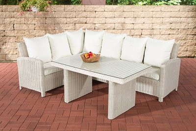 Lounge Dining Set Bormee 5mm perlWit,CremeWit