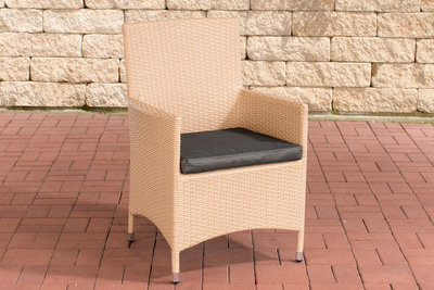 Wicker Stoel Julia sand,anthrazit,