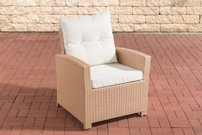 PolyRoodan fauteuil Fosoli sand,CremeWit