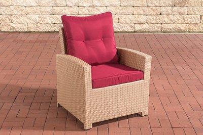 PolyRoodan fauteuil Fosoli sand,rubinRood