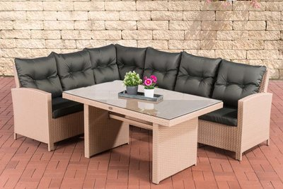 Lounge Dining Set Bormee sand,anthrazit,