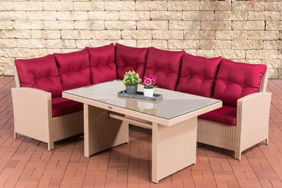 Lounge Dining Set Bormee sand,rubinRood