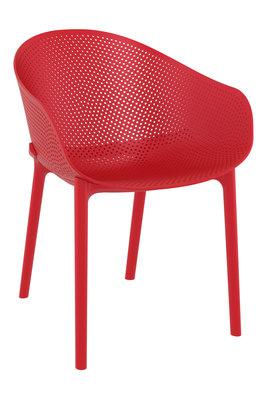 Stapelbare stoel Ska Rood