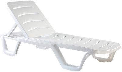 Set van 10 ligstoelen Bahama Wit