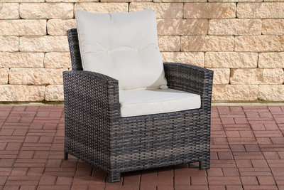 PolyRoodan fauteuil Fosoli Grijs-meliert,CremeWit