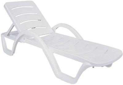 Set van 10 ligstoelen Havana Wit