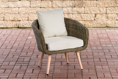 Fauteuil Imilind ronde Roodan zithoogte 45 cm CremeWit,natura