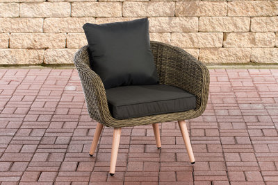 Fauteuil Imilind ronde Roodan zithoogte 45 cm anthrazit,natura