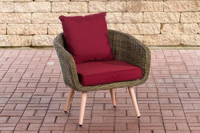 Fauteuil Imilind ronde Roodan zithoogte 45 cm rubinRood,natura