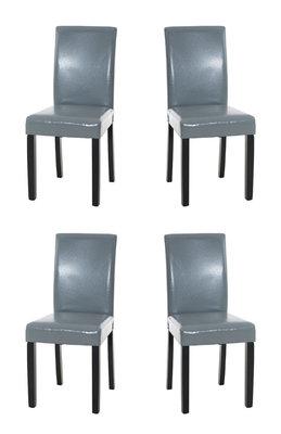 Set van 4 eetkamerstoelen Ani  Zwart Grijs