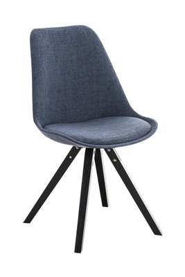 Bezoekersstoel Piglig Stof Square natura Blauw,Zwart