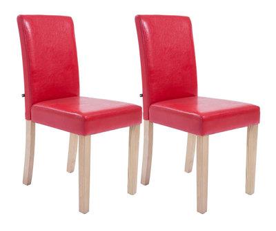 Set van 2 eetkamerstoelen Ani  Kunstleer Rood
