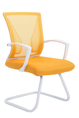 Bezoekersstoel Bennio Wit,Geel