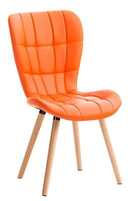 Eetkamerstoel Alde Kunstleer Oranje