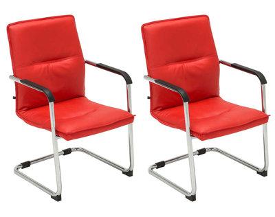 Set van 2 bezoekersstoelen Siittli kunstleer Rood