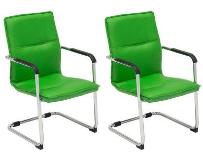 Set van 2 bezoekersstoelen Siittli kunstleer Groen
