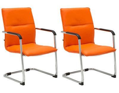Set van 2 bezoekersstoelen Siittli kunstleer Oranje