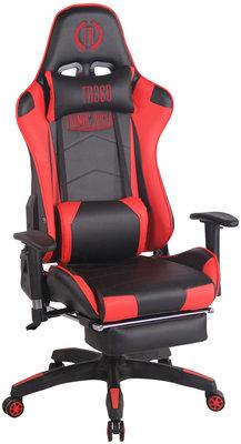 Racing bureaustoel XL Torbu met voetsteun Zwart/Rood,Kunstleder