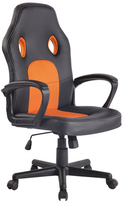 Bureaustoel Ilbeng Kunstleer Zwart/Oranje