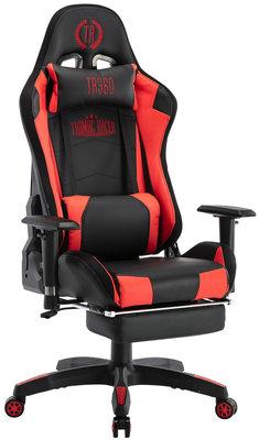 Bureaustoel Turbo LED Zwart/Rood,Kunstleder