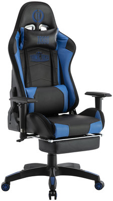 Bureaustoel Turbo LED Zwart/Blauw,Kunstleder
