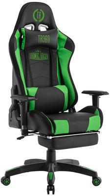 Bureaustoel Turbo LED Zwart/Groen,Kunstleder