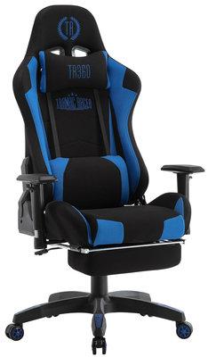 Bureaustoel Turbo LED Zwart/Blauw,Stoff