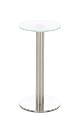 Glastafel Miredi Ø 30 cm milchglas,