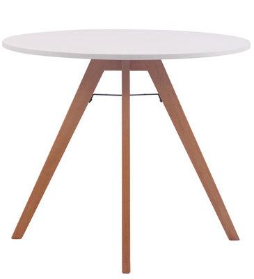 Keukentafel Voktir 90 cm, Wit